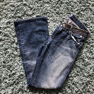 7 For All Mankind A Pocket Studded Flare Jeans